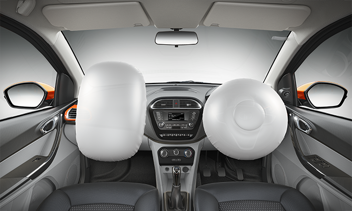 Tata Tiago with ABS & EBD with Corner Stability Control (CSC) and Dual Airbags