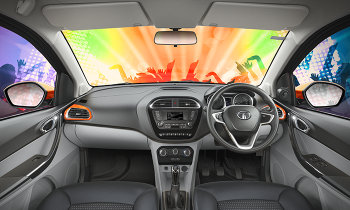 Tata Tiago with Next Generation ConnectNext Infotainment System by Harman™ with Juke-Car App (1st in Segment)