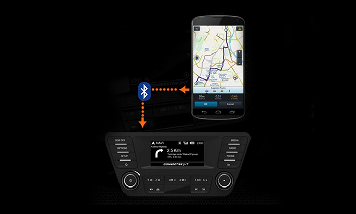 Tata Tiago with Smartphone Enabled Turn-by-Turn Navigation App (1st in Segment)