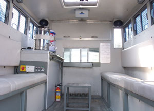 Spacious Interiors to accomodate 10 12 personnel