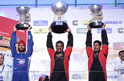 Andhra based Nagarjuna is winner once again, at the T1 PRIMA Truck Racing Championship 2017 – Champions class